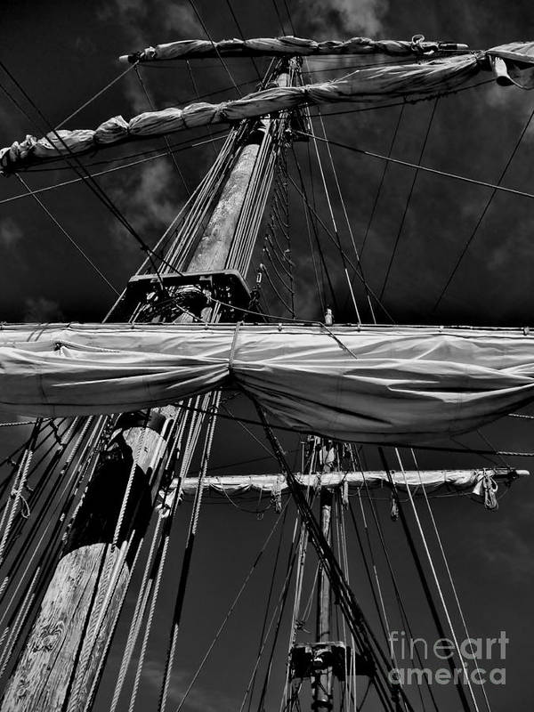 Black And White Poster featuring the photograph Ghost Ship by Amar Sheow