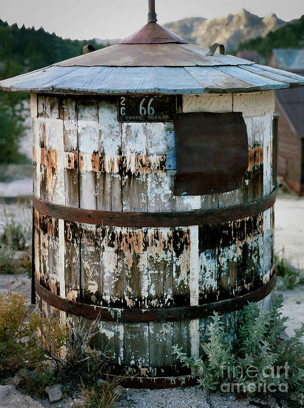 Tank Poster featuring the photograph Ghost Town Water Tank by Jeff K Floyd