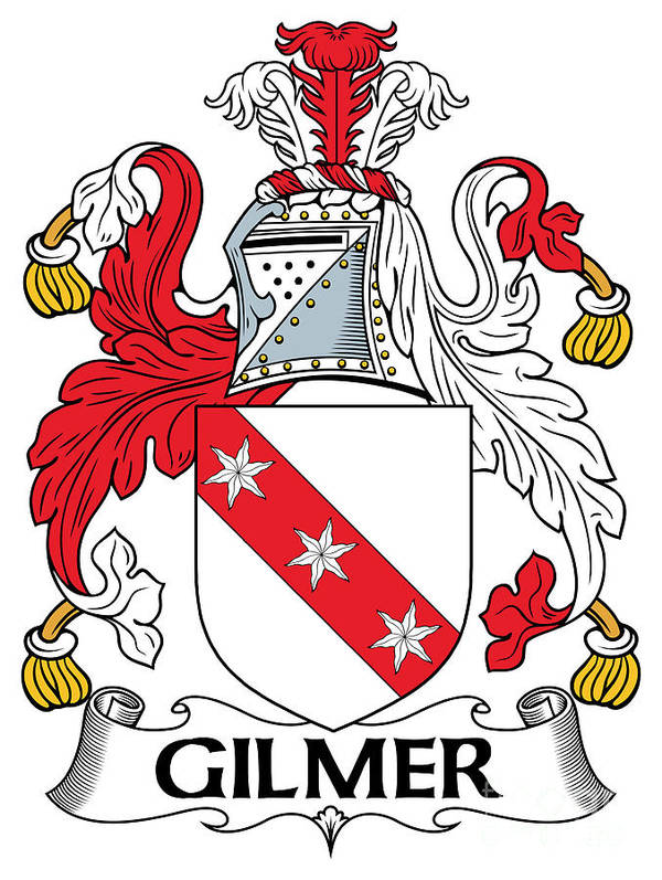 Gilmer Poster featuring the digital art Gilmer Coat Of Arms Irish by Heraldry