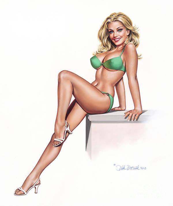Poster picture of girl in bikini