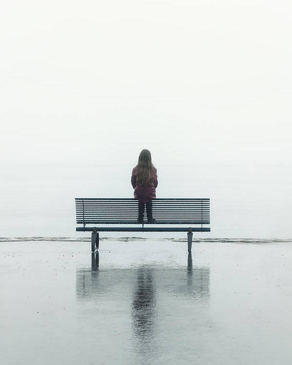 Female Poster featuring the photograph Girl On A Bench by Joana Kruse