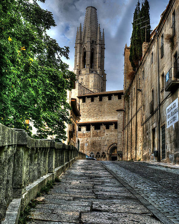 Girona Poster featuring the photograph Girona Spain by Isaac Silman