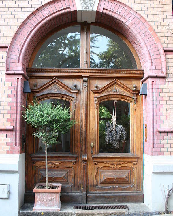 Door Poster featuring the photograph Glazed Door by Christiane Schulze Art And Photography