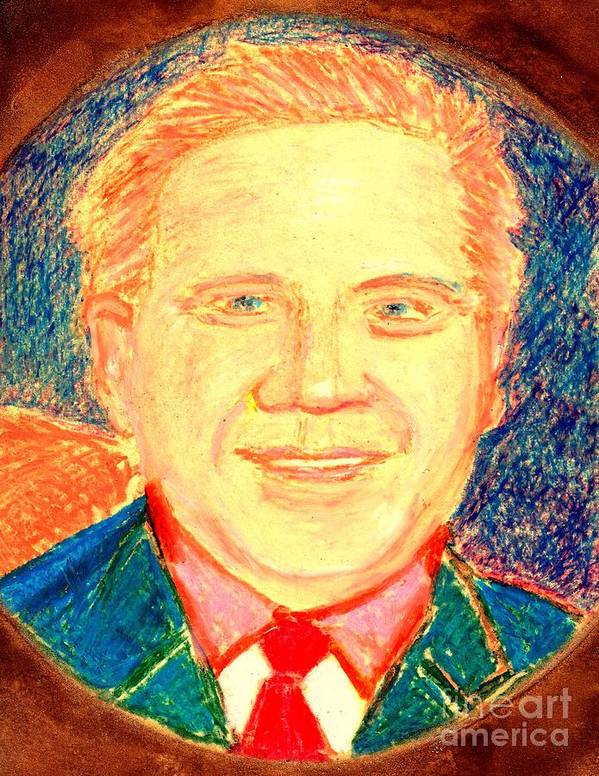 Glenn Beck Poster featuring the painting Glenn Beck Controversy by Richard W Linford