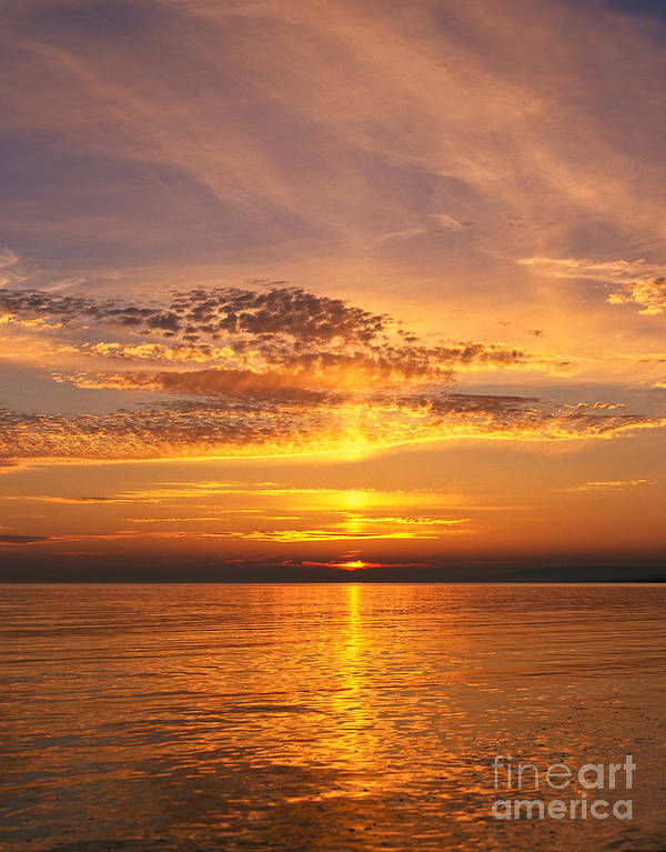 Dorset Poster featuring the photograph Glorious Sunset by Lana Enderle