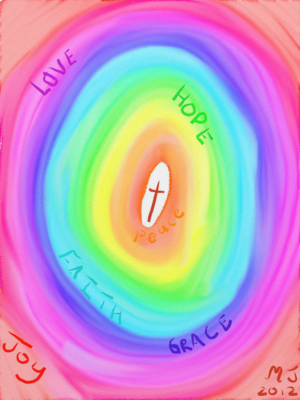 Love Poster featuring the digital art God's Colours by Michael Jordan
