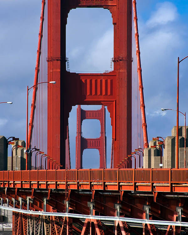 3scape Poster featuring the photograph Golden Gate Bridge by Adam Romanowicz
