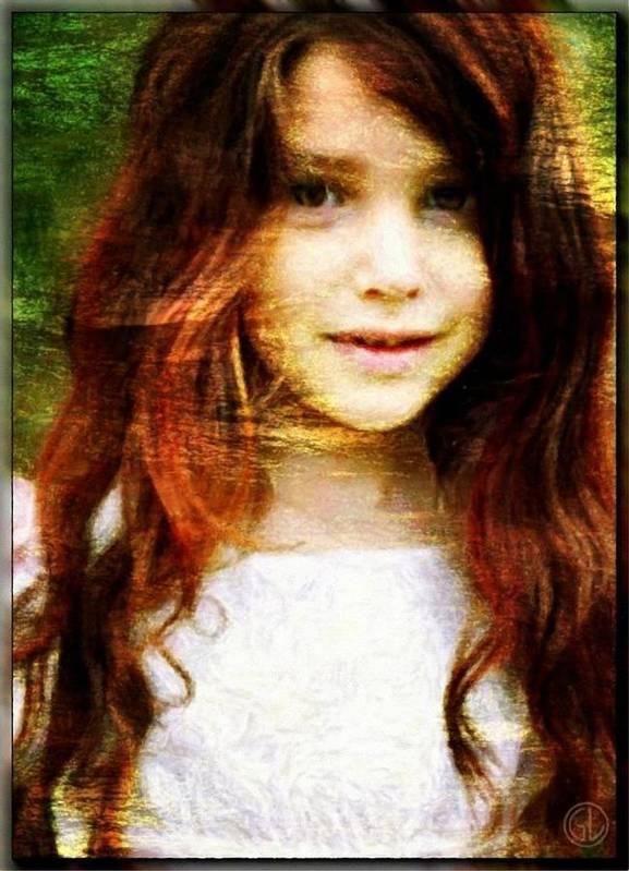 Child Poster featuring the digital art Golden Girl by Gun Legler