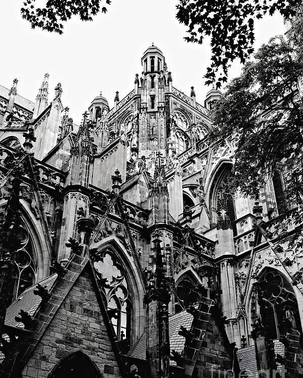 Gothic Architecture Poster featuring the photograph Gothic Cathedral Of Den Bosch by Carol Groenen