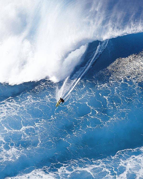 Big Wave Surfing Poster featuring the photograph Grace Under Pressure by Sean Davey