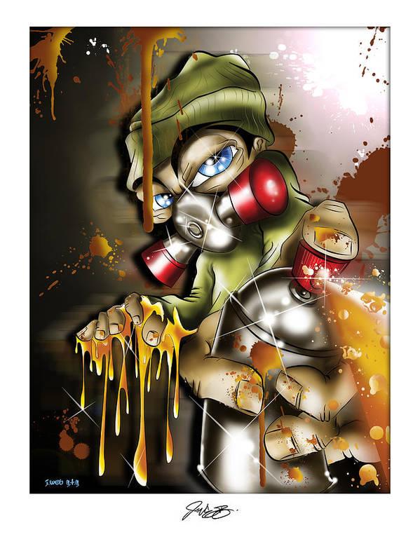 Graffiti Poster featuring the digital art Graffiti Is An Addiction by John Webb