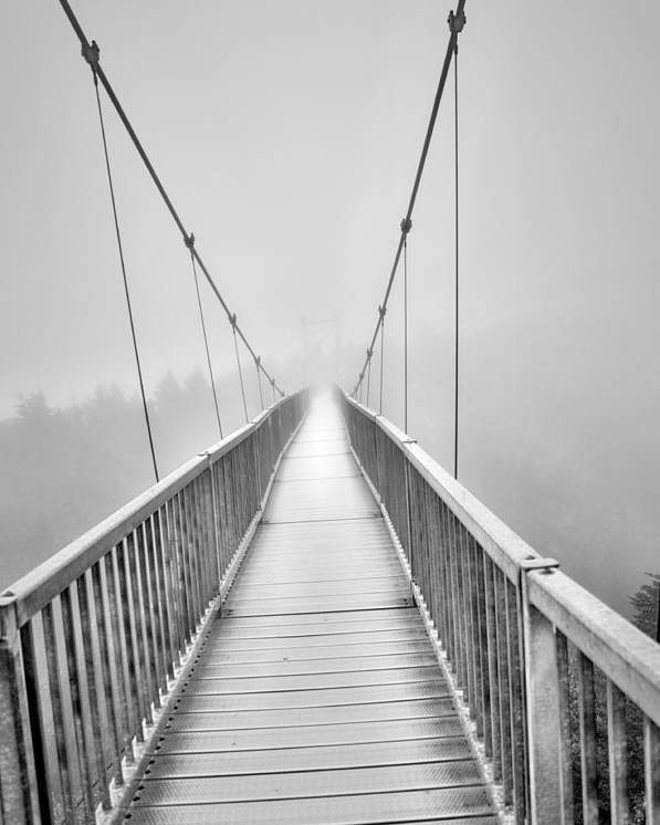 Grandfather Mountain Poster featuring the photograph Mile High Bridge #2 by Sonja Dover
