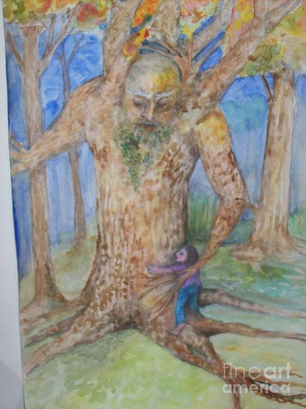 Water Color Poster featuring the painting Grandfather Tree by Katie Thomas