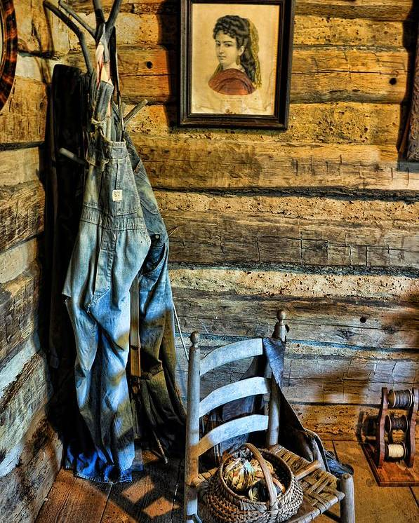 Still Life Poster featuring the photograph Grandpa's Closet by Jan Amiss Photography