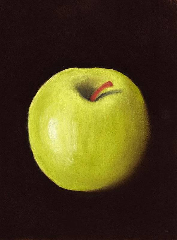 Apple Poster featuring the painting Granny Smith Apple by Anastasiya Malakhova