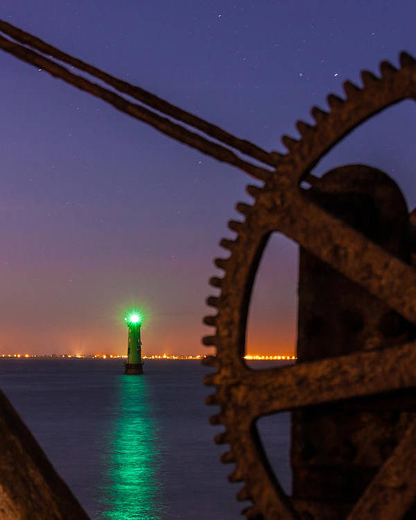 Arm Poster featuring the photograph Green Lighthouse by Semmick Photo