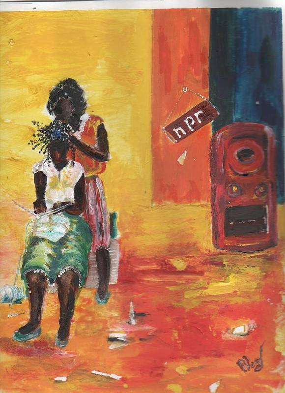 Figurative Poster featuring the painting Grooving by Peggy Blood
