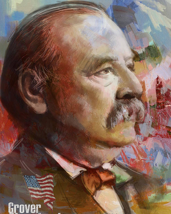 Grover Cleveland Poster featuring the painting Grover Cleveland by Corporate Art Task Force
