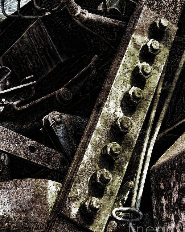 Industrial Poster featuring the photograph Grunge Industrial Machinery by Olivier Le Queinec