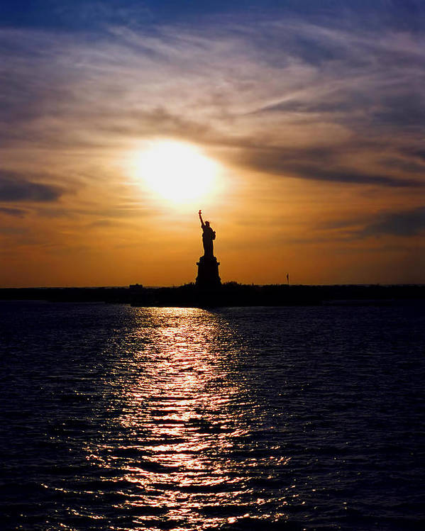 Sunset Poster featuring the photograph Guiding Light by Joann Vitali