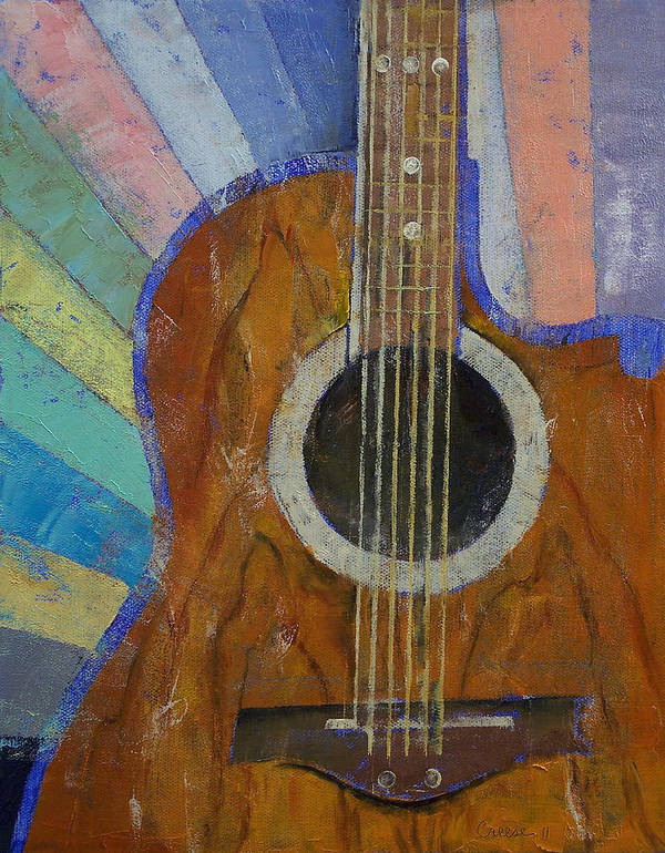 Guitar Poster featuring the painting Guitar Sunshine by Michael Creese