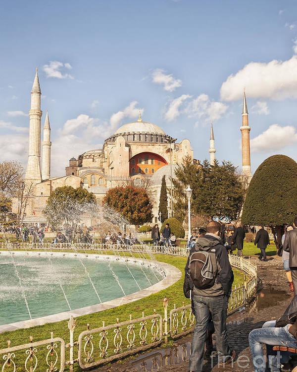 Turkey Poster featuring the photograph Hagia Sophia Editorial by Antony McAulay