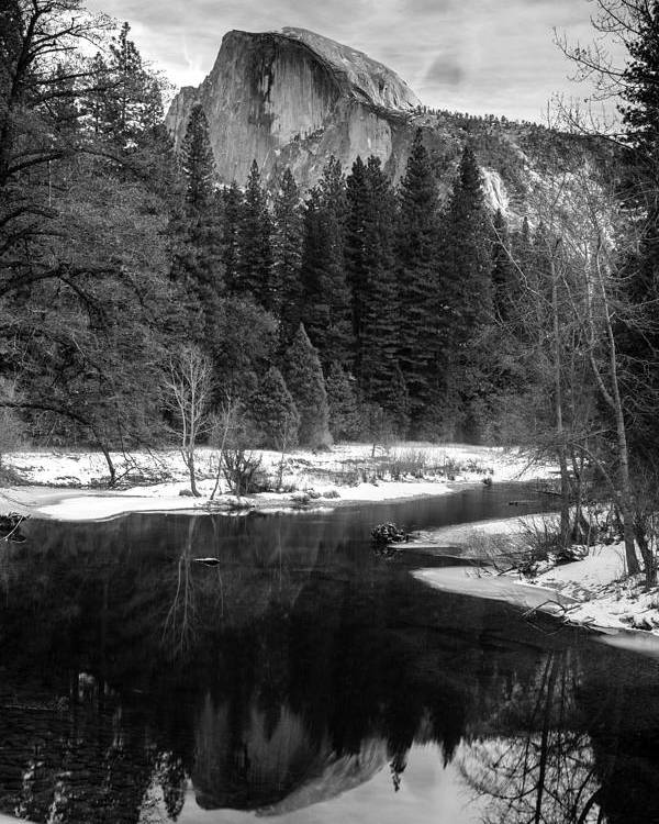 Half Dome In Winter Poster featuring the photograph Half Dome In Winter by Karma Boyer