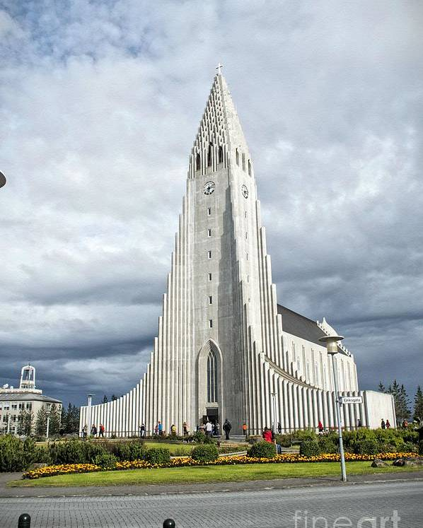 Poster featuring the photograph Hallgrimskirkja Iceland by Allen Hall