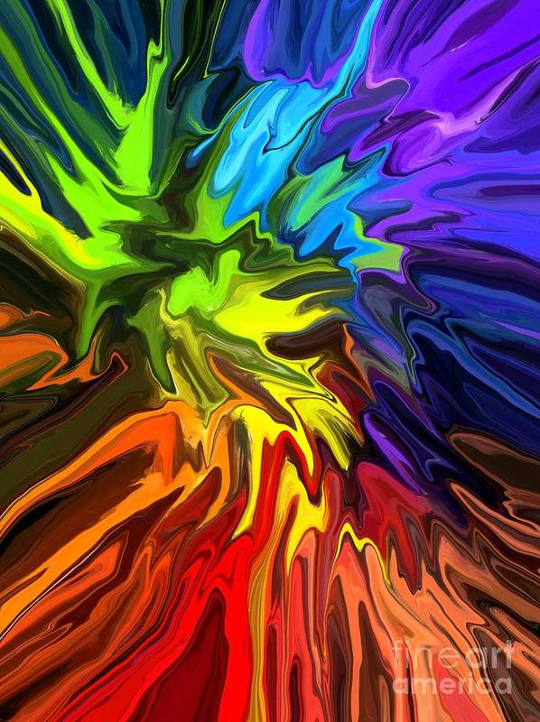 Abstract Poster featuring the digital art Hallucination by Chris Butler