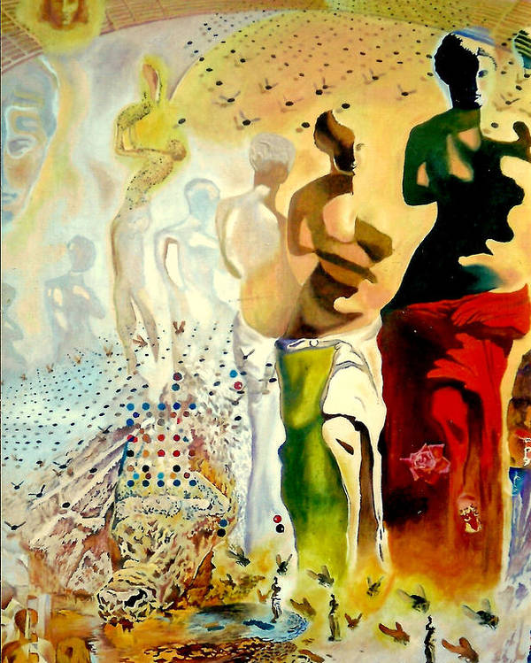 Henryk Poster featuring the painting Halucinogenic Toreador By Salvador Dali by Henryk Gorecki