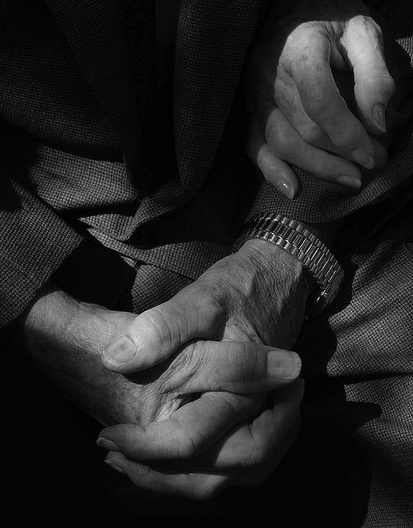 Black And White Photography Poster featuring the photograph Hands Of Time by Steven Milner