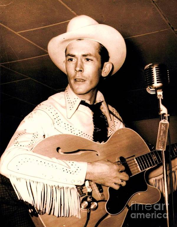 Pd Poster featuring the photograph Hank Williams Sr. by Pg Reproductions