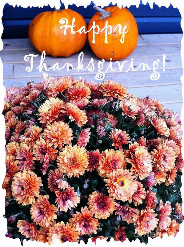 Happy Thanksgiving Poster featuring the photograph Happy Thanksgiving by Barbara Griffin