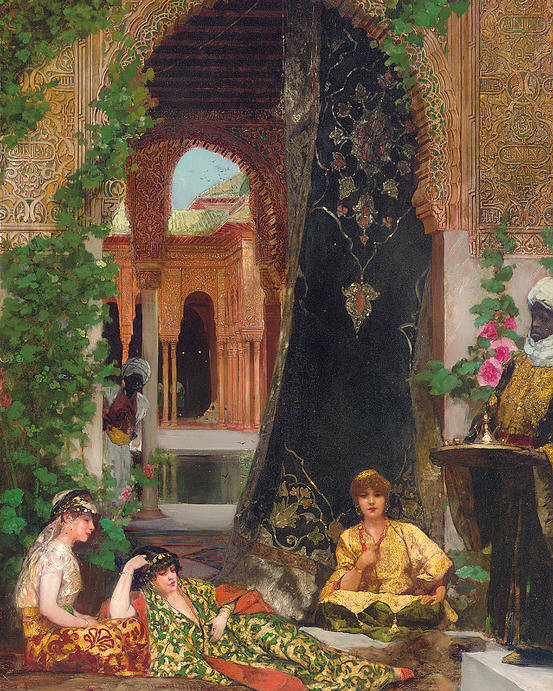 Constant Poster featuring the painting Harem Women by Jean Joseph Benjamin Constant