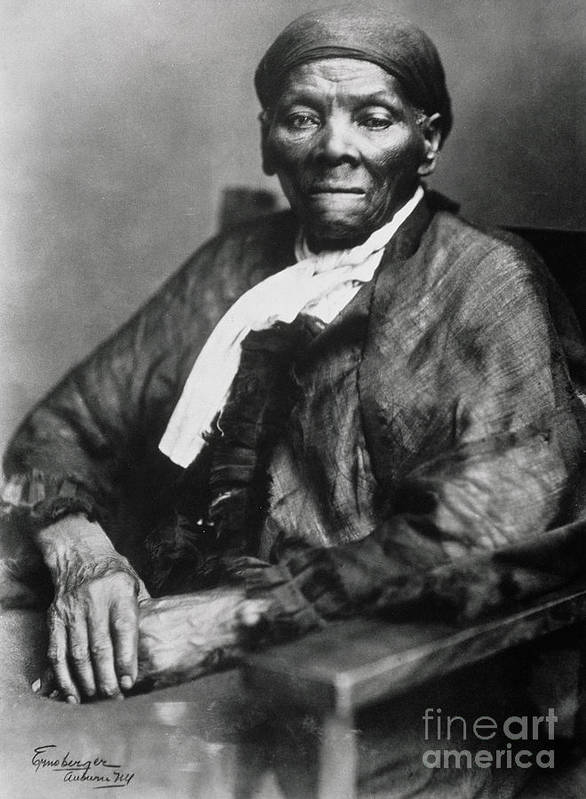 Female Poster featuring the photograph Harriet Tubman by American School