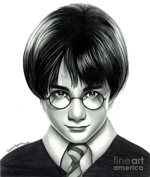Harry Potter Poster featuring the drawing Harry Potter And The Philosopher's Stone by Crystal Rosene