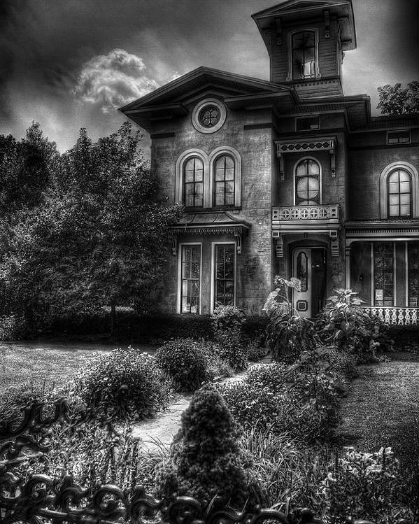 Hdr Poster featuring the photograph Haunted - Haunted House by Mike Savad