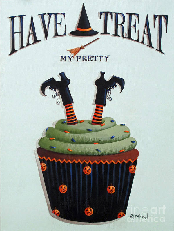 Art Poster featuring the painting Have A Treat My Pretty by Catherine Holman