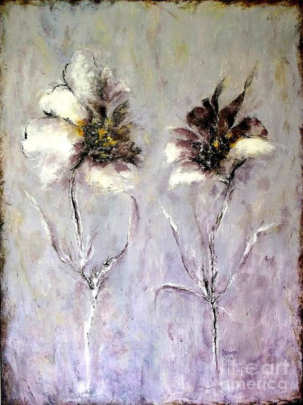 Flowers Poster featuring the painting Have You Heard.....? by Madeleine Holzberg