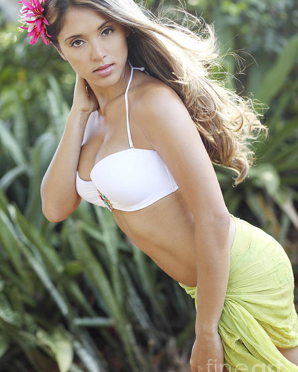 Attractive Poster featuring the photograph Hawaiian Girl by Vince Cavataio