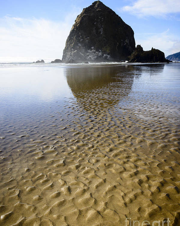 Coastline Poster featuring the photograph Haystack Rock At Cannon Beach by Oscar Gutierrez