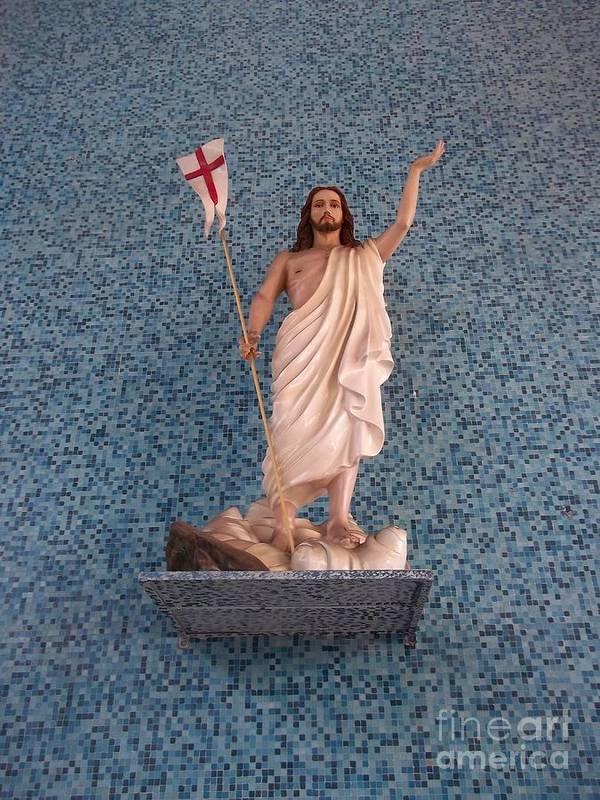 Jesus Christ Poster featuring the photograph He Raise by Vladimir Berrio Lemm