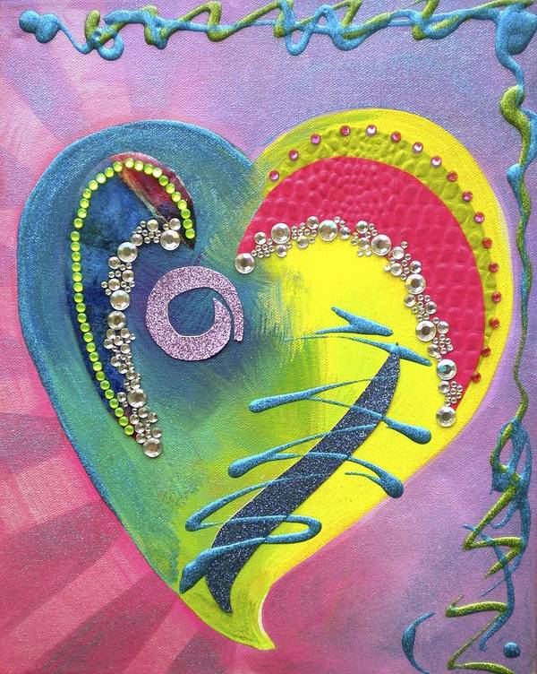 Heart Art Poster featuring the painting Heartworks by Debi Starr