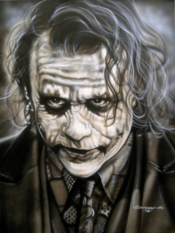 Celebrities Poster featuring the painting Heath Joker by Timothy Scoggins