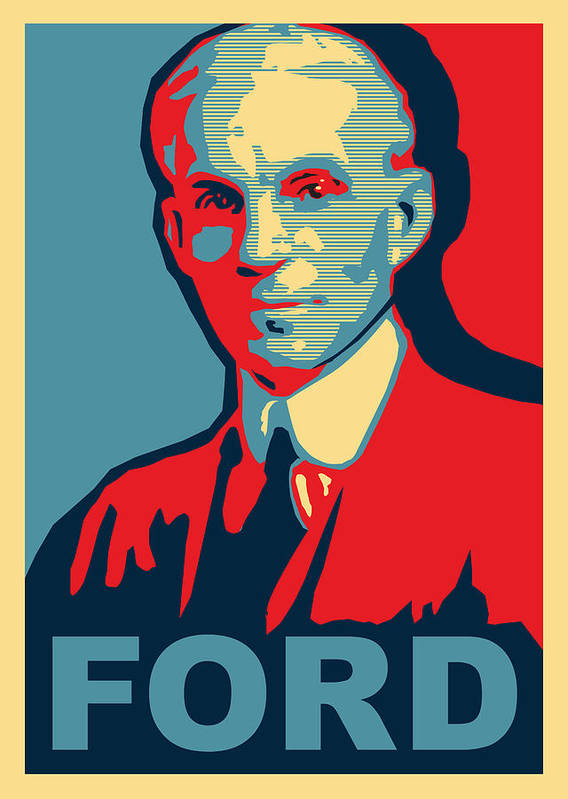 Ford Poster featuring the mixed media Henry Ford by Design Turnpike