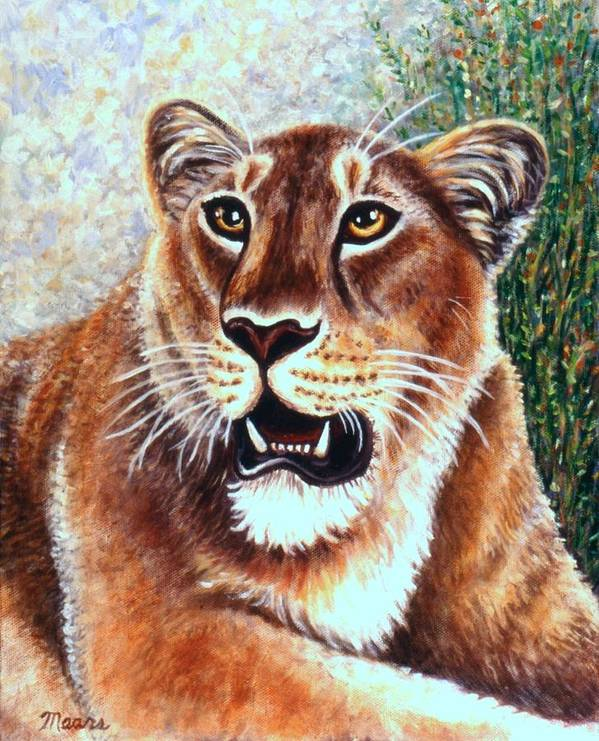 Big Cat Poster featuring the painting Her Highness by Linda Mears