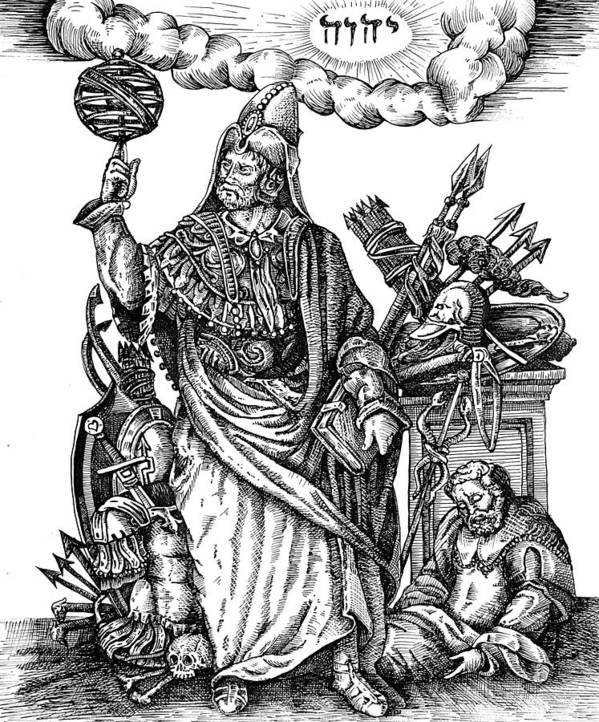 Esoteric Poster featuring the drawing Hermes Trismegistus by Gregory Stewart