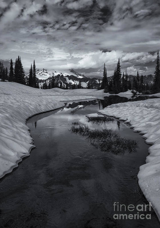 Mt. Rainier Poster featuring the photograph Hidden Beneath The Clouds by Mike Dawson