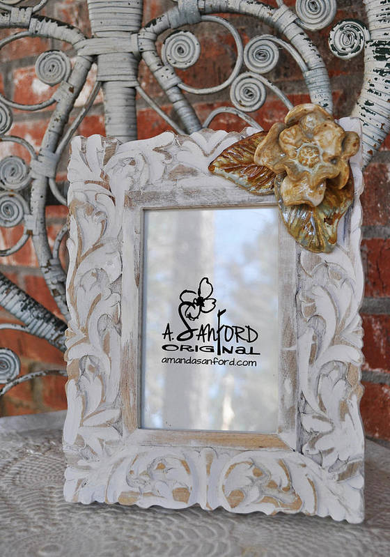 Photo Frame Poster featuring the sculpture Hide And Chic by Amanda Sanford