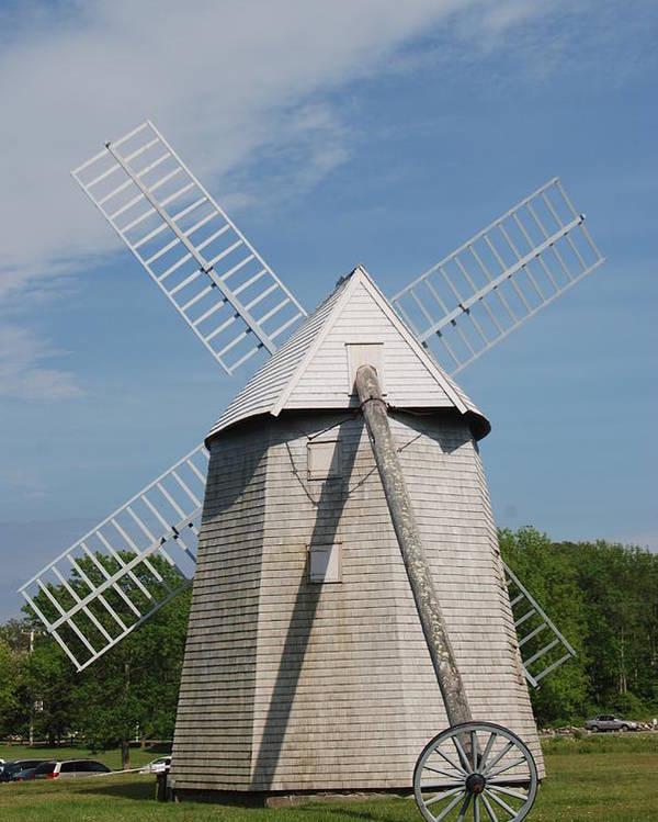 Higgins Farm Windmill Poster featuring the photograph Higgins Farm Windmill by Pamela Schreckengost